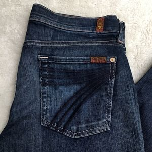 7 for All Mankind Dojo Cropped Jeans Size 28x20